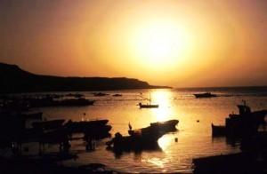 Sicilia romantico tramonto