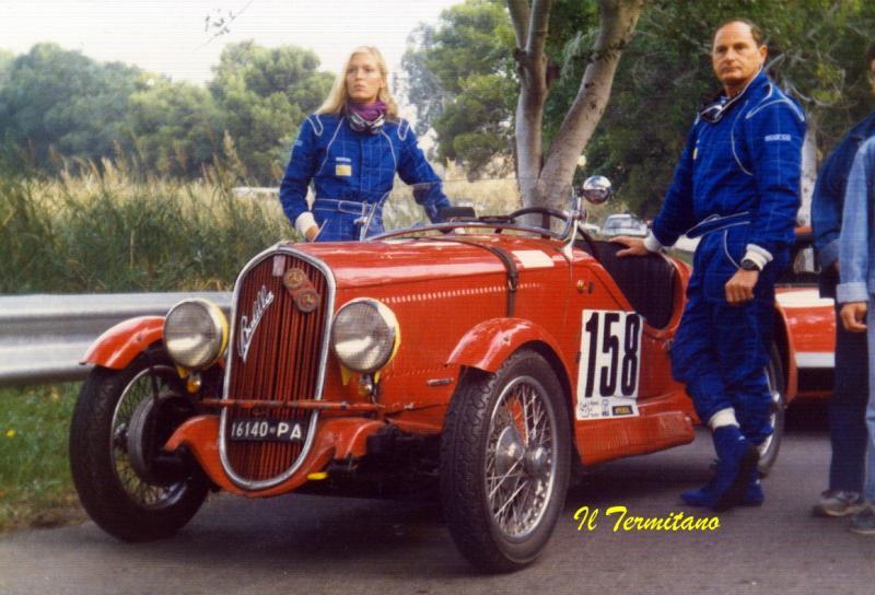 Il Conte Alessandro Federico con la moglie Alwine - 1988 Targa Florio storica (Fonte Forum-auto.com)