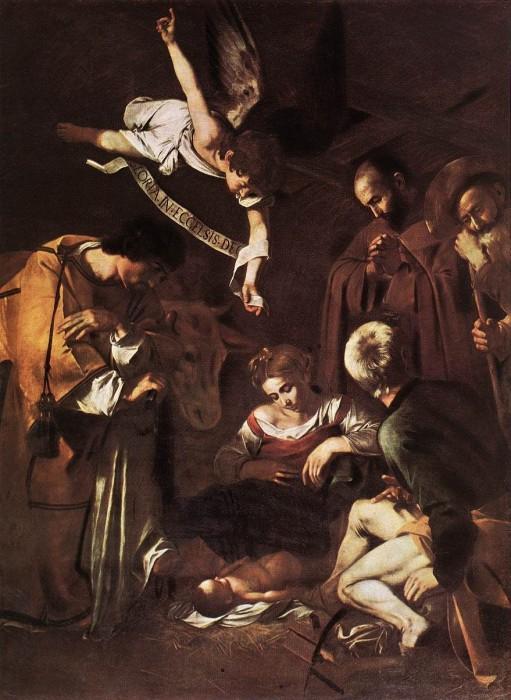 Natività con i santi Francesco e Lorenzo (1600 - 1609 ? , olio su tela, 268X197 cm)