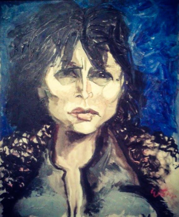Anna Magnani (1960 - Olio su tela, 75x60)
