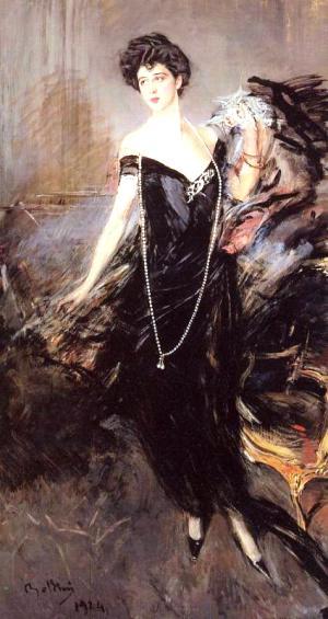 Ritratto di Franca Florio - oggi a Villa Igea, Palermo
