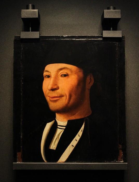 Ritratto d'uomo o d'ignoto marinaio - olio su tavola - XV sec.