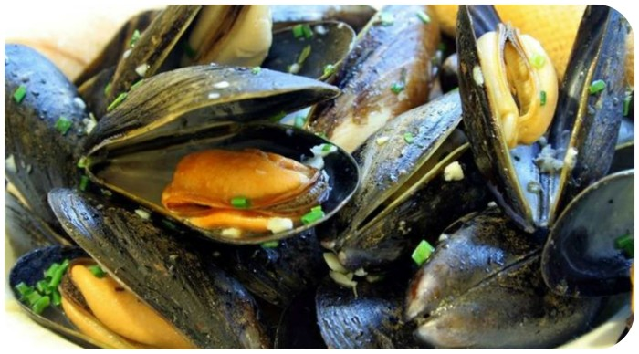 Peppery mussels