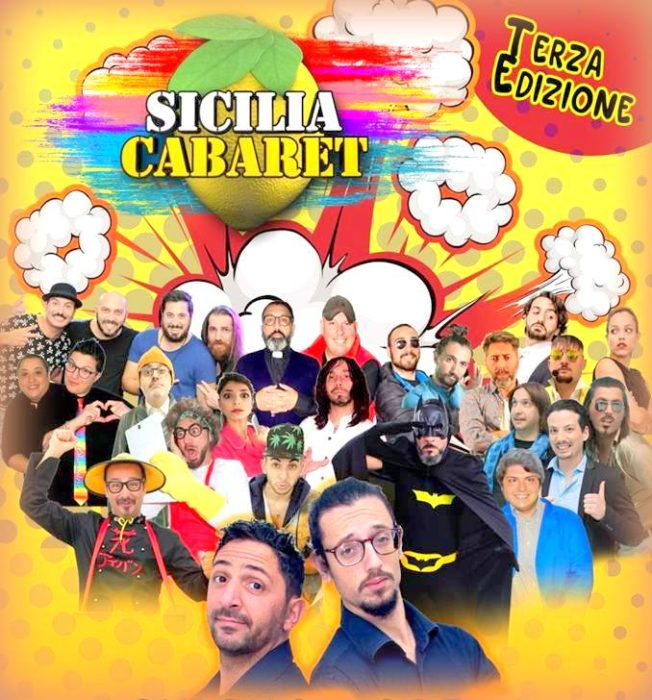 """Lo staff di Sicilia Cabaret al gran completo anche nel film """"Un pugno di amici""""."""