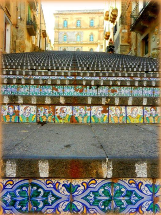diario del nostro viaggio in Sicilia: la scalinata di Caltagirone