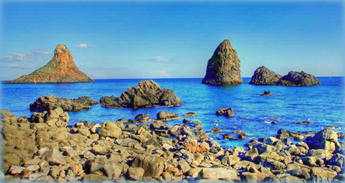 le 7 aree marine protette della sicilia: isole ciclopi