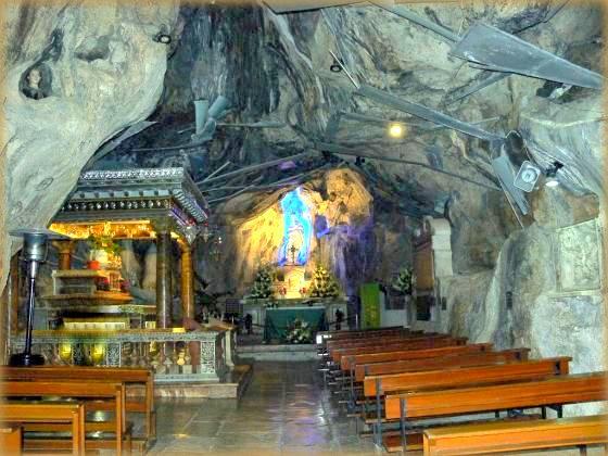 grotta del santuario di santa rosalia