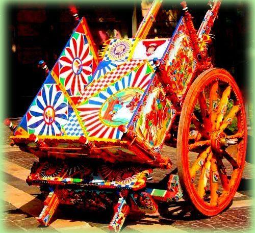 il carretto siciliano è un simbolo della sicilia: le decorazioni spettacolari