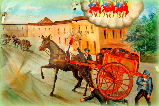 il carretto siciliano è un simbolo della sicilia: anche negli antichi ex voto