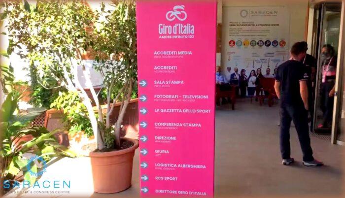 Il Giro d'Italia 2020 riparte dalla Sicilia: il Saracen Resort lo ospita