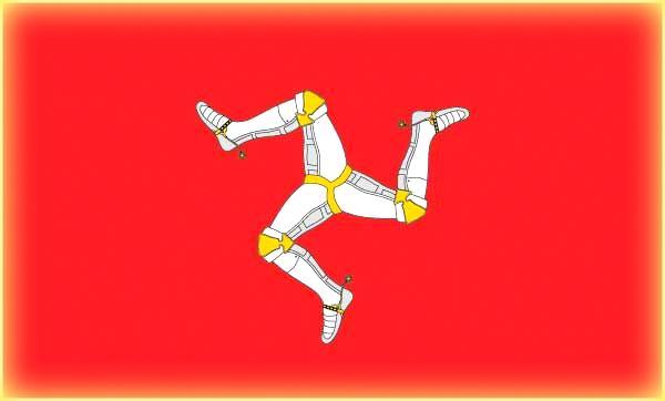 il simbolo della triscele viene rappresentato da tre elementi in rotazione