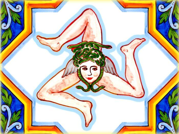 scopriamo il simbolo della sicilia anche nelle ceramiche
