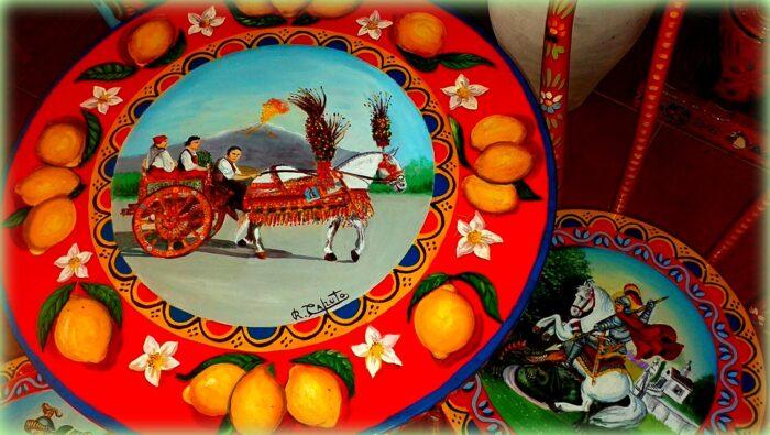tavolino dipinto da caputo