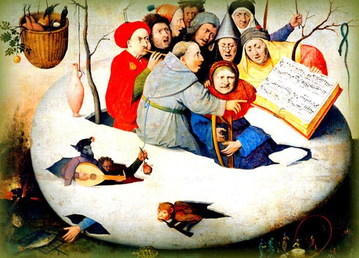 uovo simbolo della pasqua: dipinto di bosch